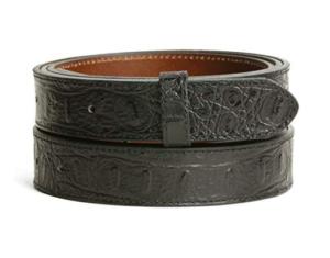 cinturón de cuero sin hebilla de metal