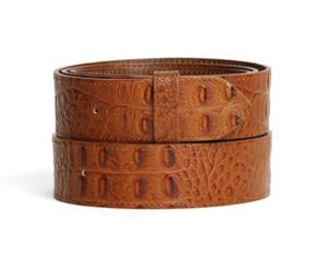 cinturón sin hebilla piel coco cuero