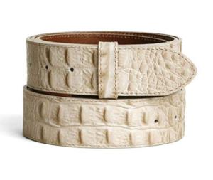 cinturón de piel auténtica sin hebilla